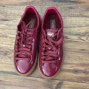 Puma Shoes - Puma Basket Platform Patent - Tibetan Red - Sz: 8